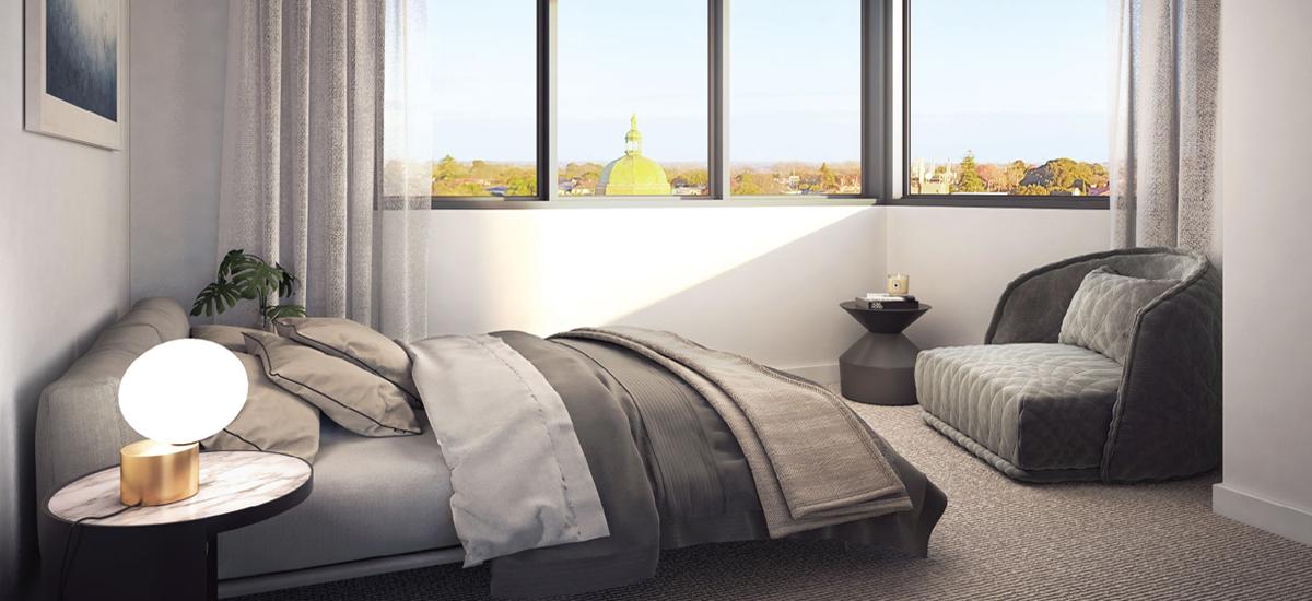 699 Burke Road bedroom