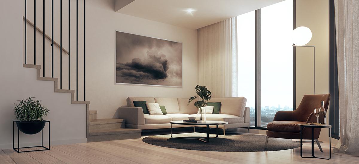 699 Burke Road living room
