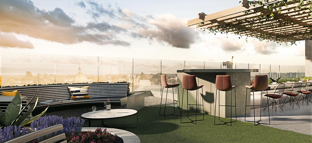 699 Burke Road rooftop