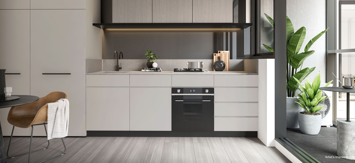 off the plan apartment for sale Amber Melbourne kitchen