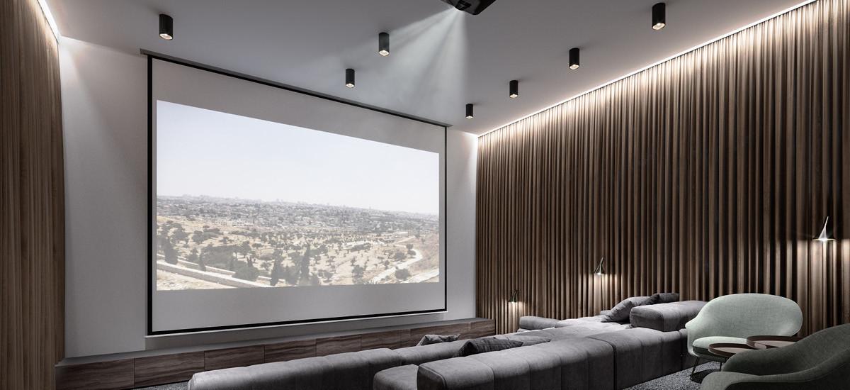 Arches cinema room