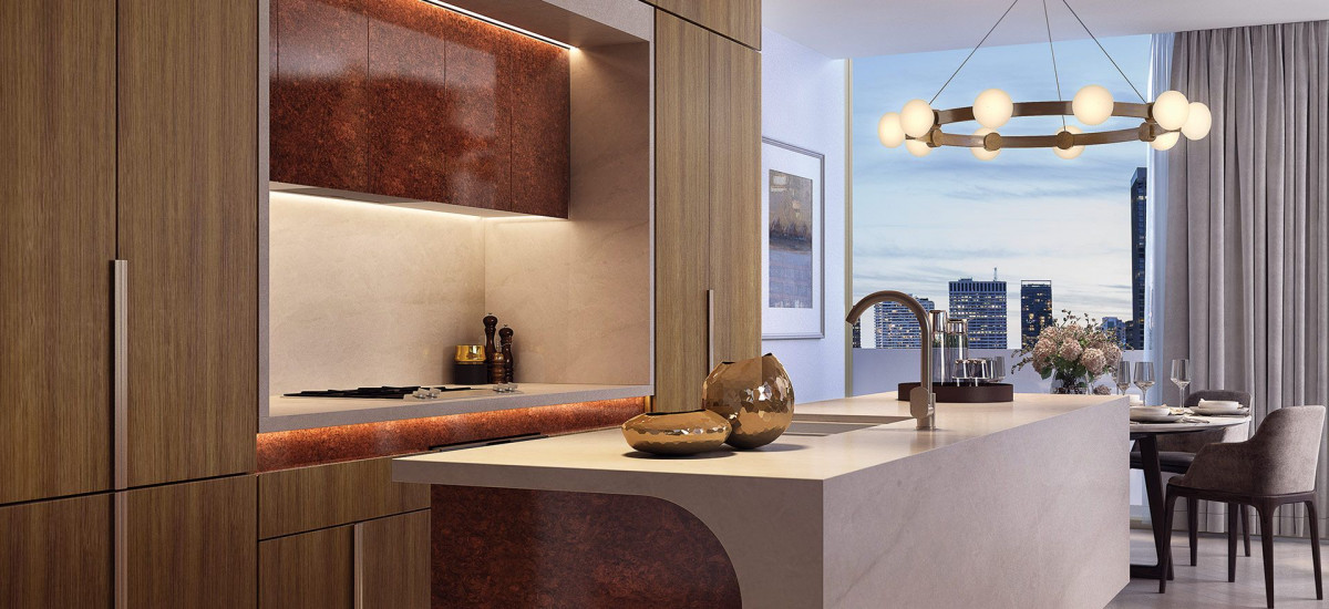 The kitchen of a King & Phillip apartment