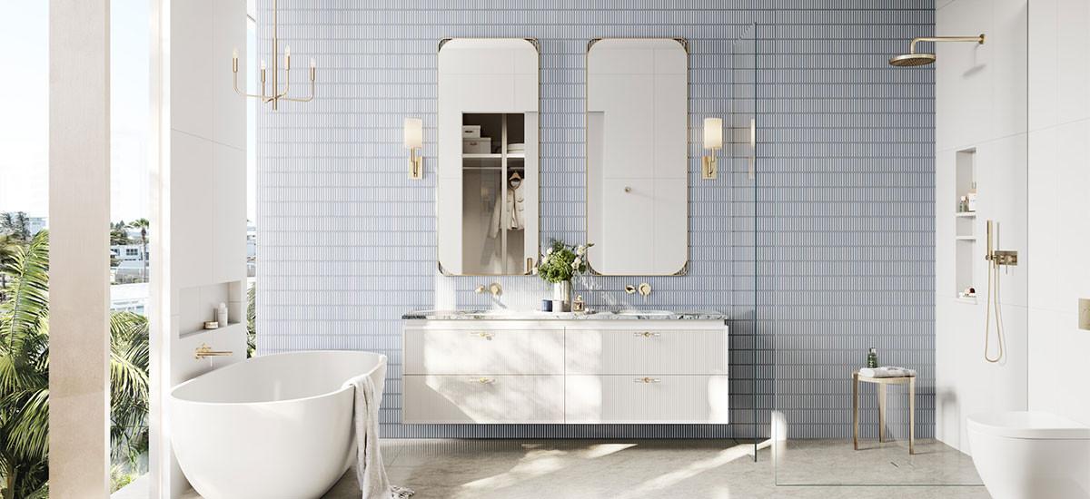 Cabana Queensland Gold Coast Apartments Developments Palm Beach Residential Bathroom Bath Vanity Shower