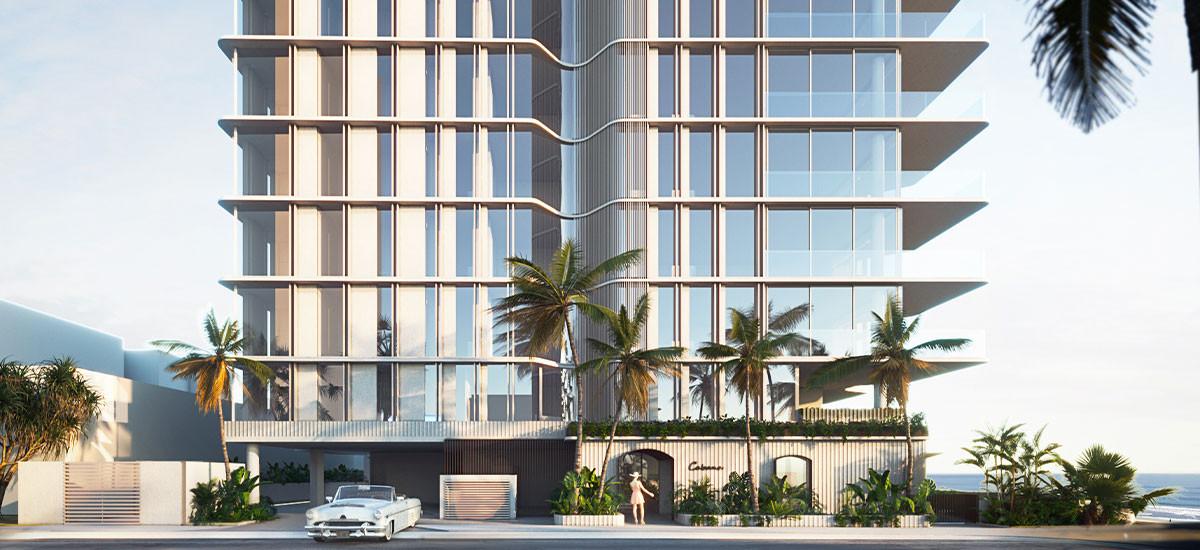 Cabana Queensland Gold Coast Apartments Developments Palm Beach Residential Facade Glass Glazing Parking