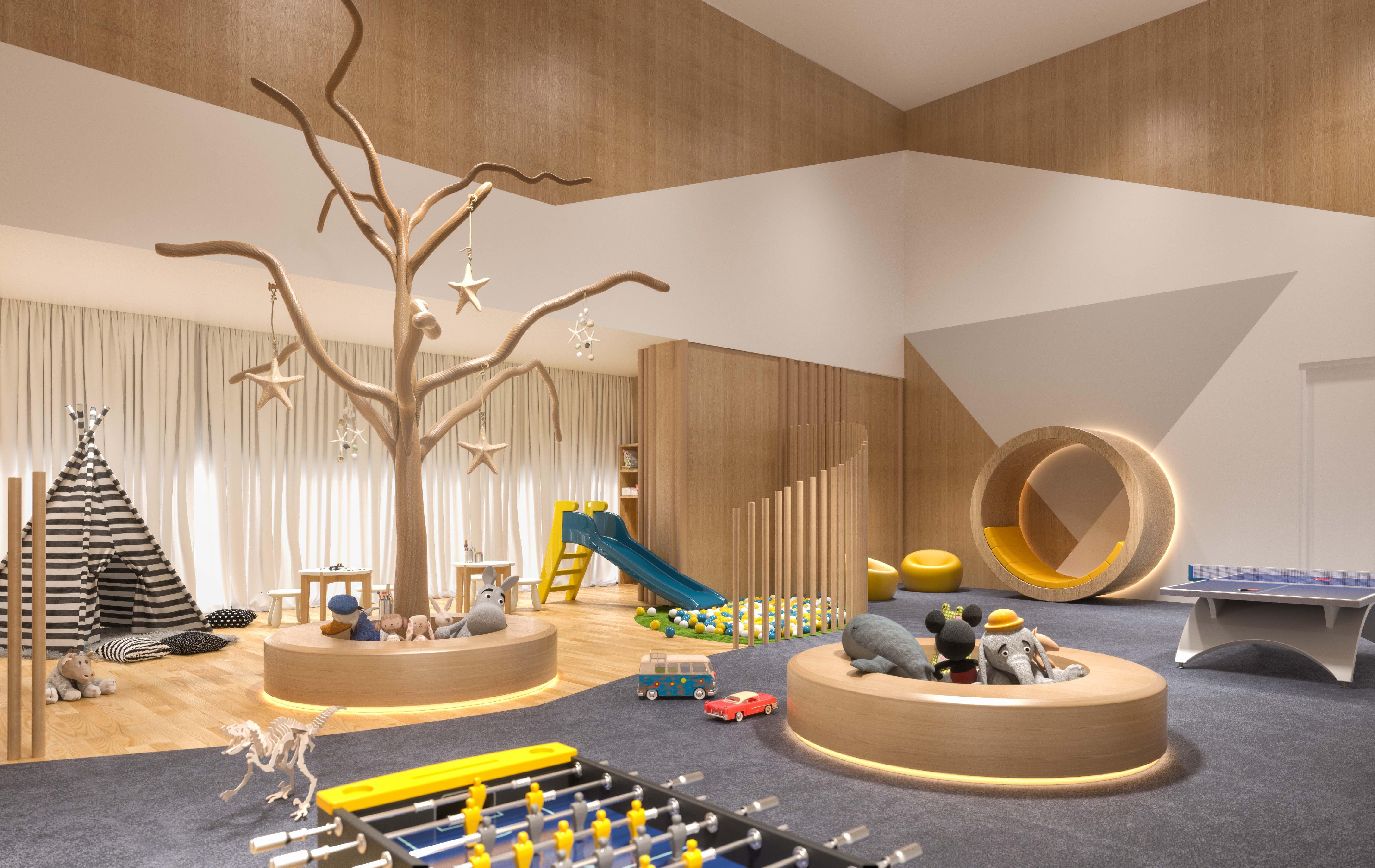 The Landmark kids play room