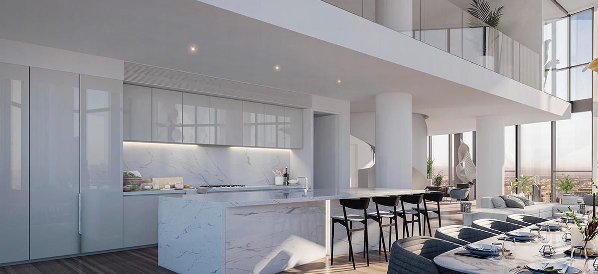 Melbourne Square penthouse kitchen