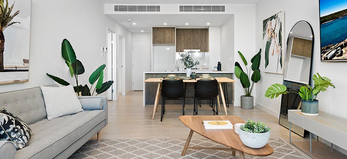 Grandfield Apartments open-plan living