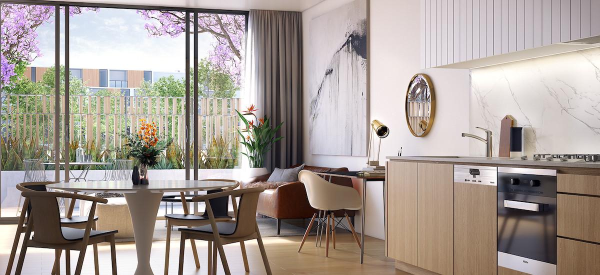 Park Sydney living and kitchen