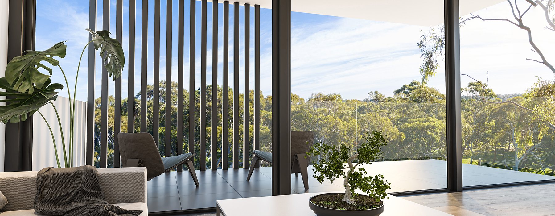 Aurora Cronulla Interior Livingroom views balcony
