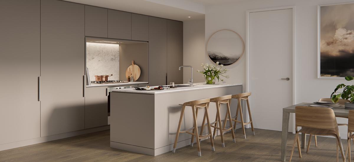 B.E. Apartments kitchen