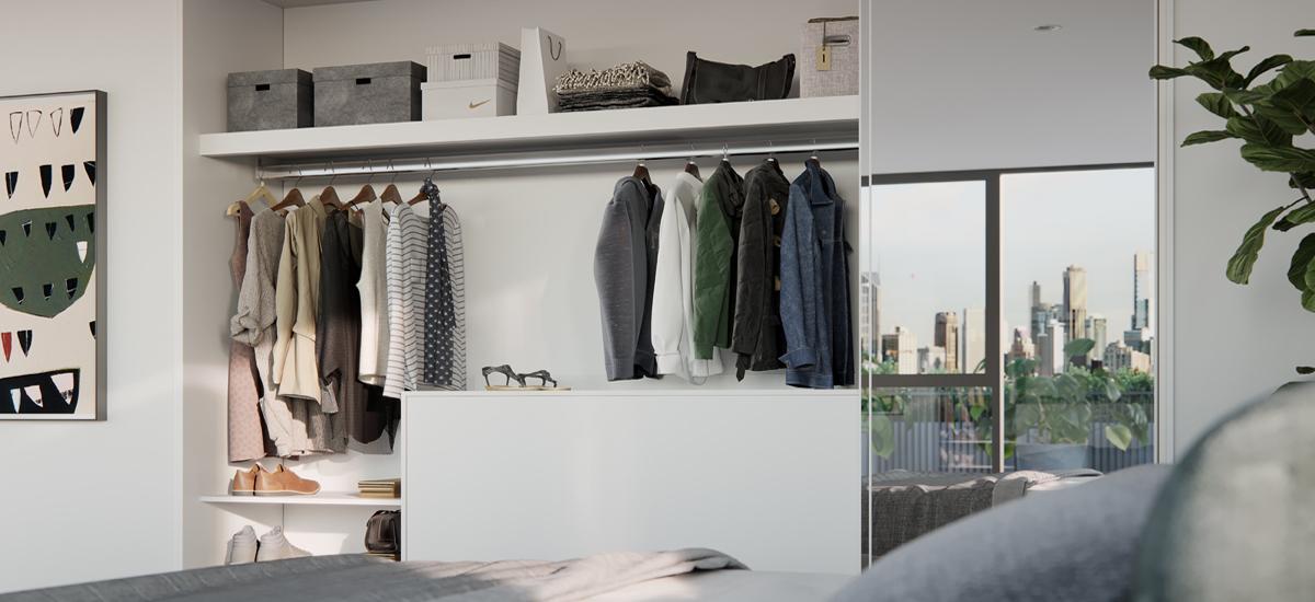 B.E. Apartments wardrobe