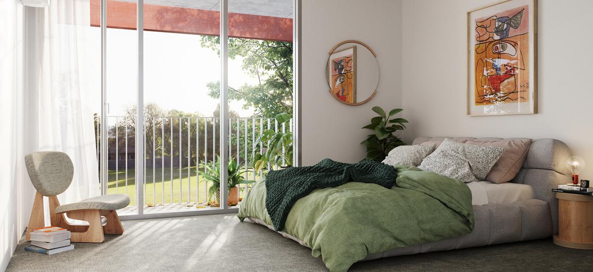 Balfe Park Lane bedroom