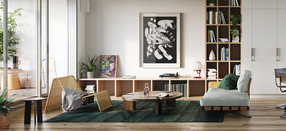 Balfe Park Lane living room