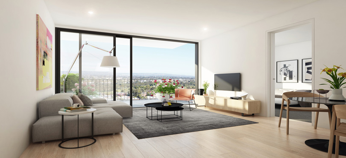 off the plan apartment for sale Bohem living room