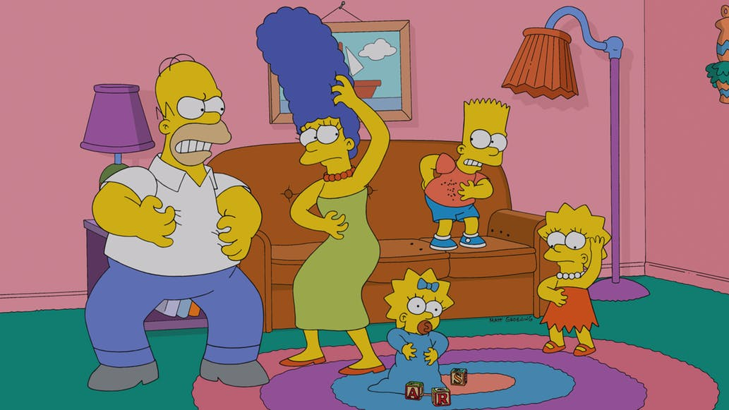 The Simpsons\' living room redesigned through time ...