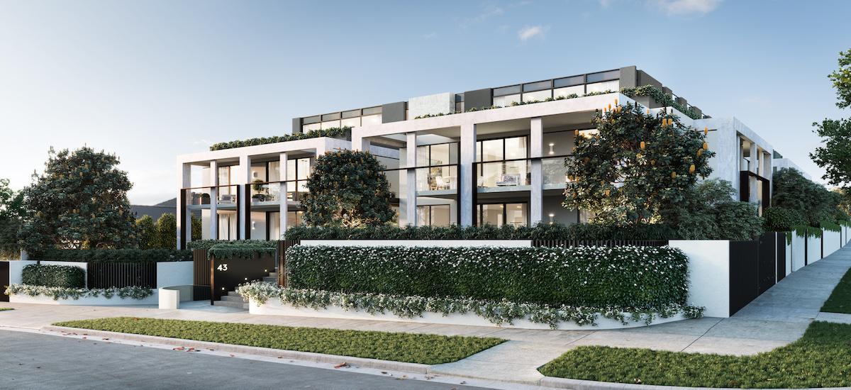 Caspian off plan apartment for sale building exterior