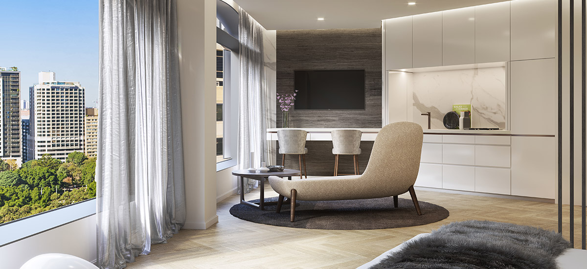 Castle Residences apartment lounge in NSW