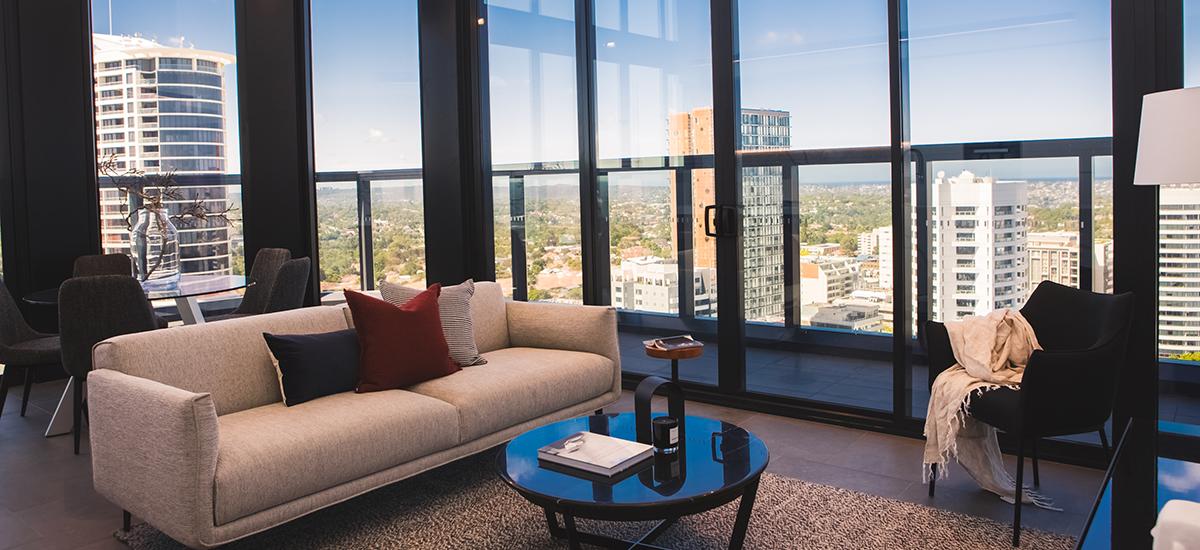 Embassy Tower living room