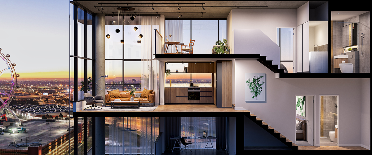 off the plan apartment for sale Escala loft