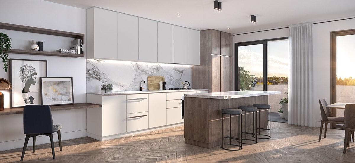 off plan apartment for sale Highett House apartment modern kitchen