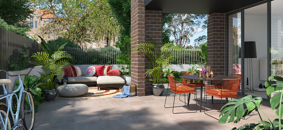 off plan apartment for sale HIghline Westmead beautiful courtyard in New South Wales