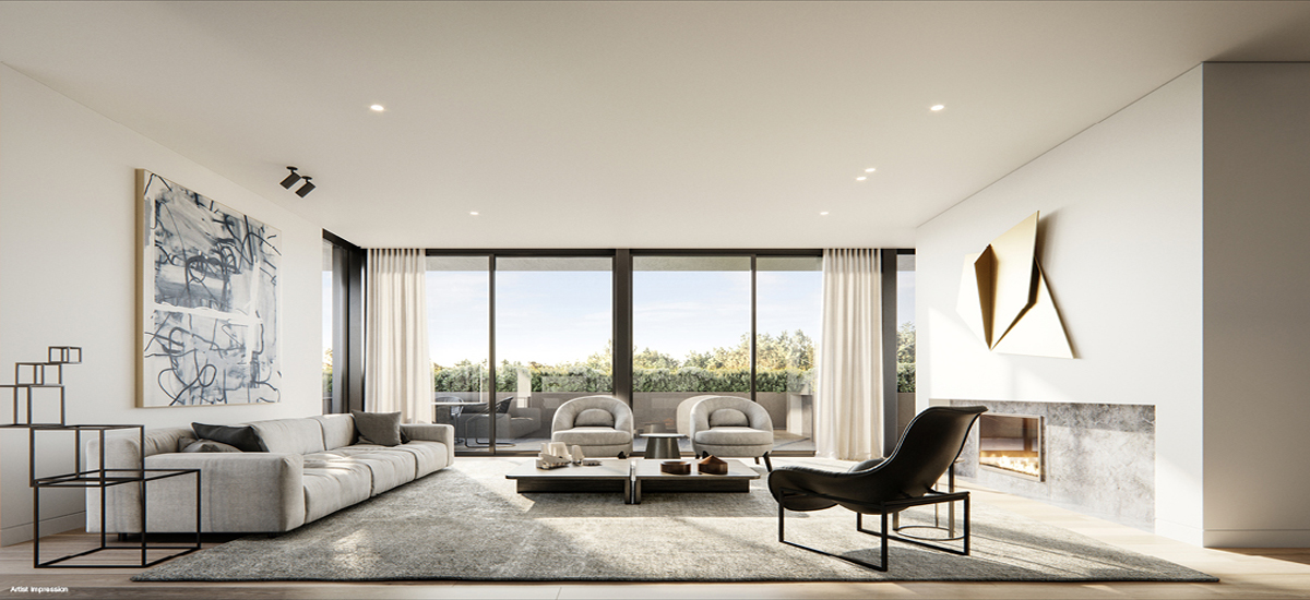 off the plan apartment for sale Malvern Residences living room