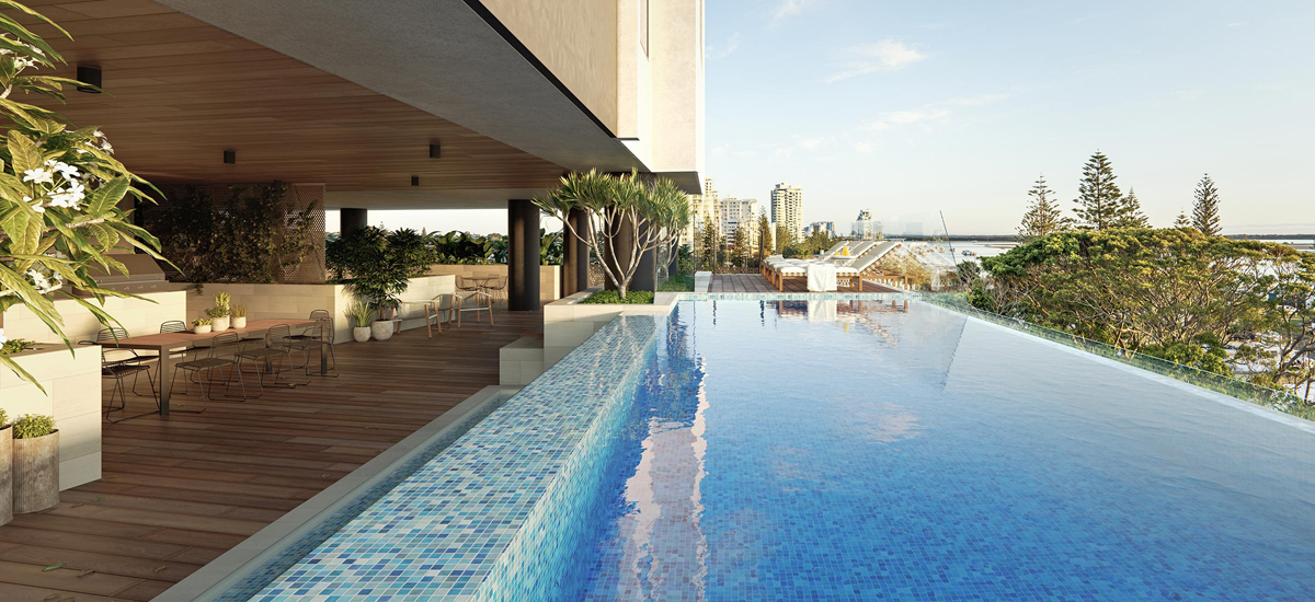 off the plan apartment for sale Marine Quarter pool