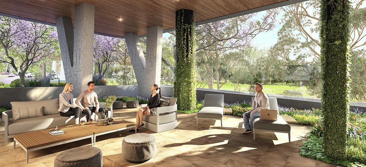 Monika Macquarie Park outdoor lounge