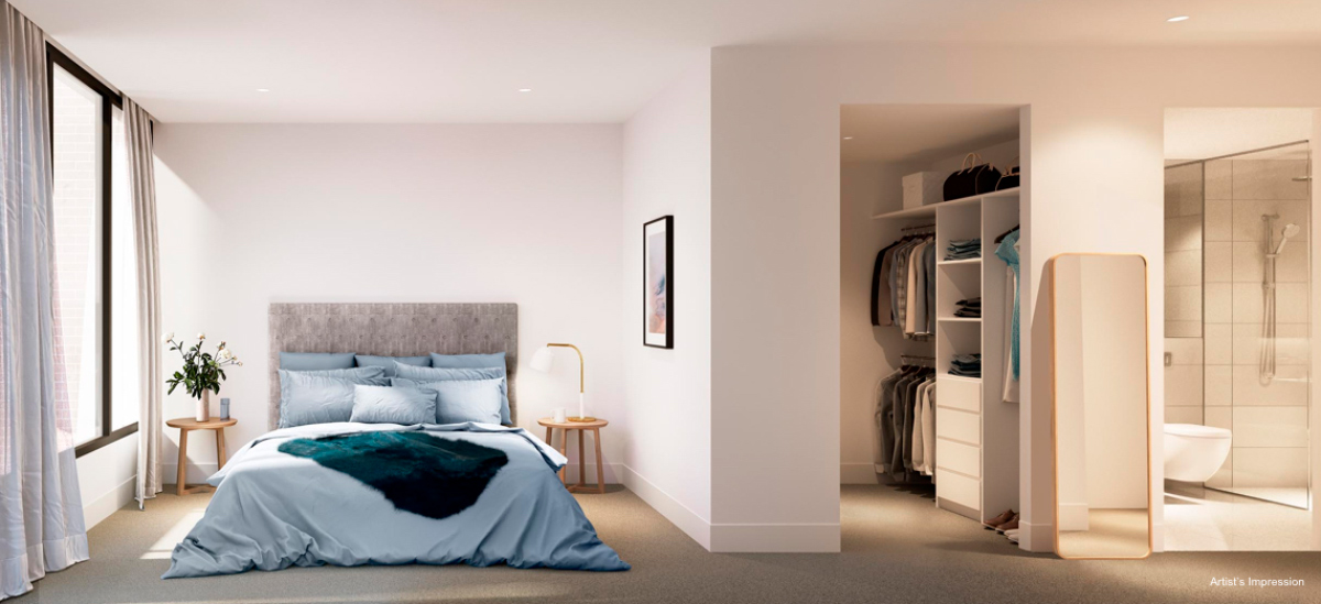 off plan apartment for sale Mont Albert Place apartment bedroom in Victoria