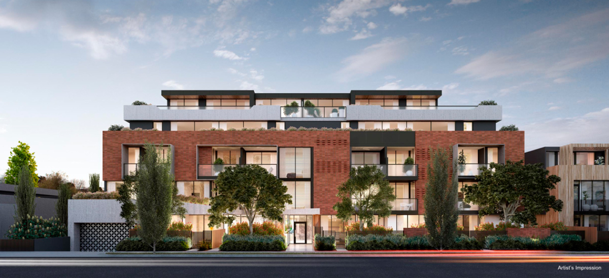 Mont Albert Place apartment exterior