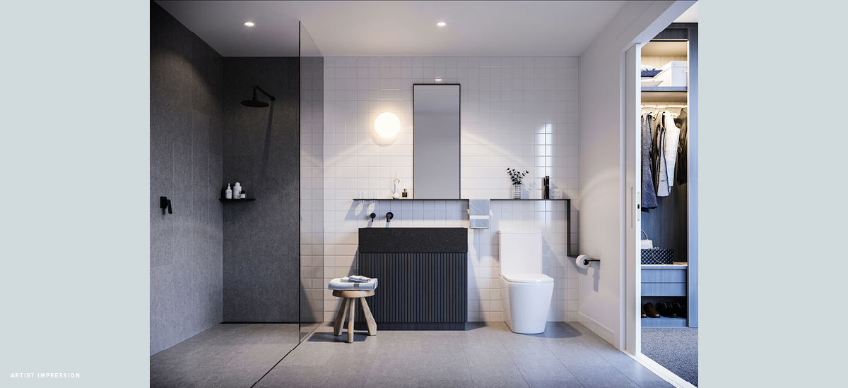 off the plan apartment for sale Nero bathroom