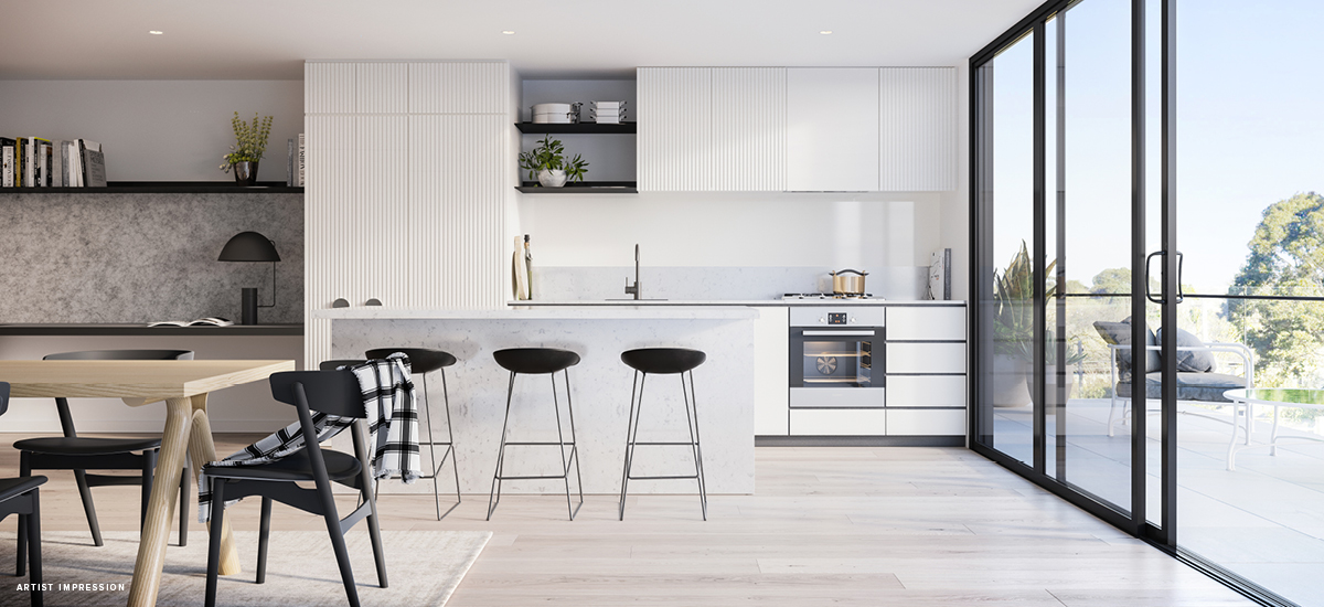 off the plan apartment for sale Nero kitchen