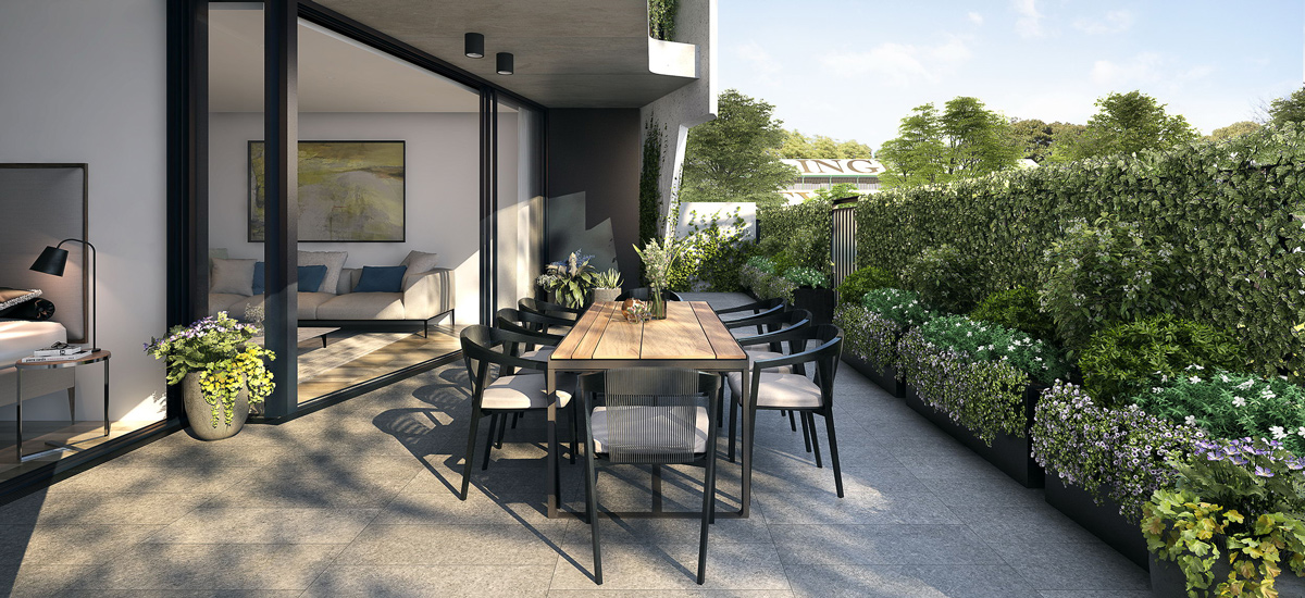 off plan apartment for sale Newmarket Randwick courtyard