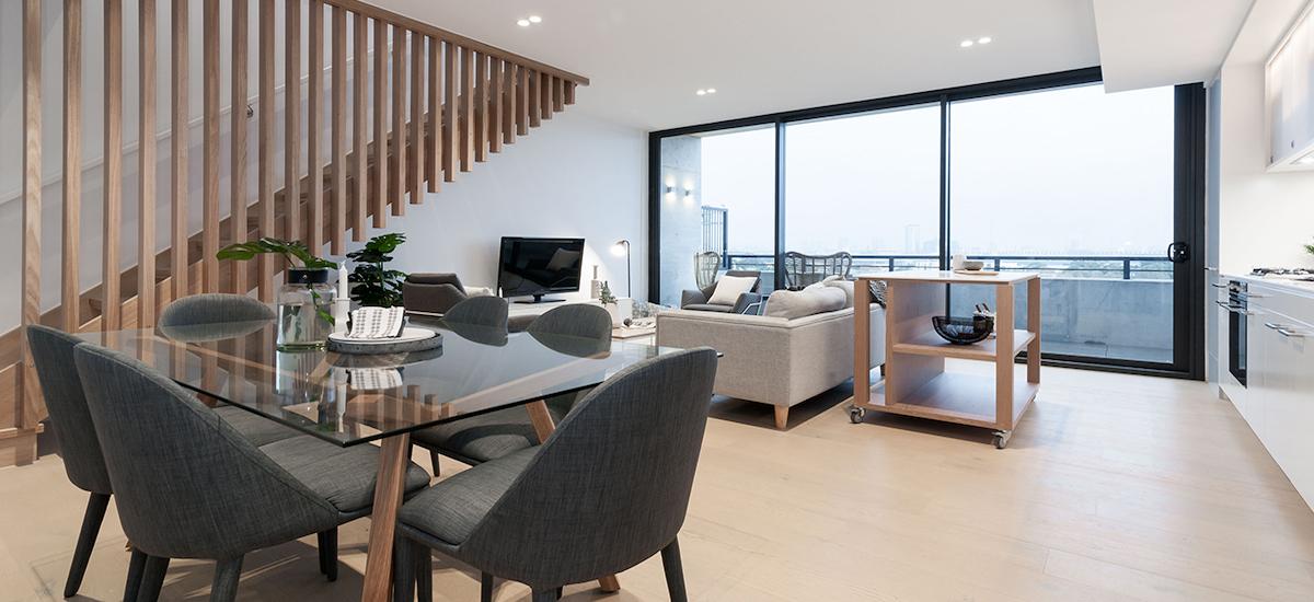 One A Erskineville living room