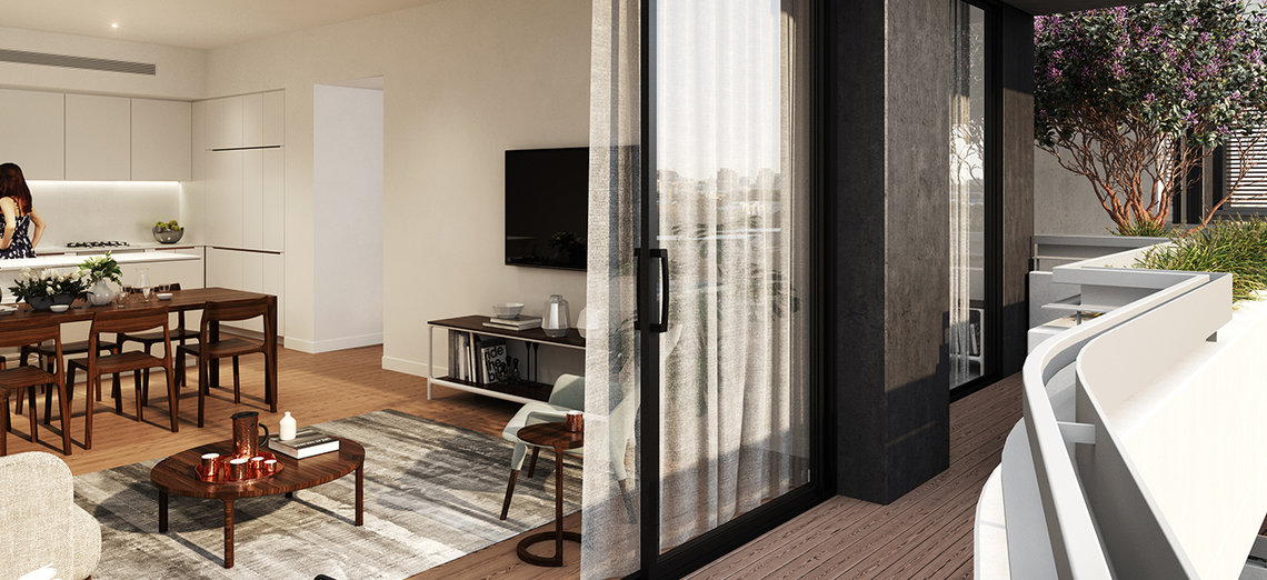 Ovation Quarter apartment balcony in NSW