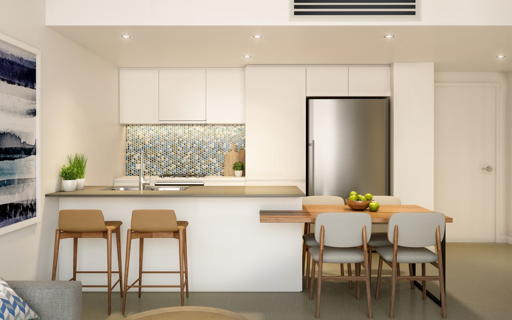 Park Central One apartment kitchen in Woolloongabba Queensland