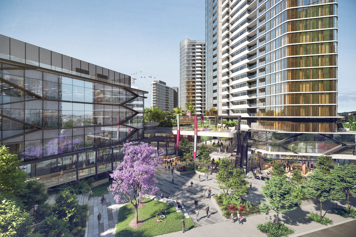 Retail spaces in Park Central One apartment in Woolloongabba Queensland