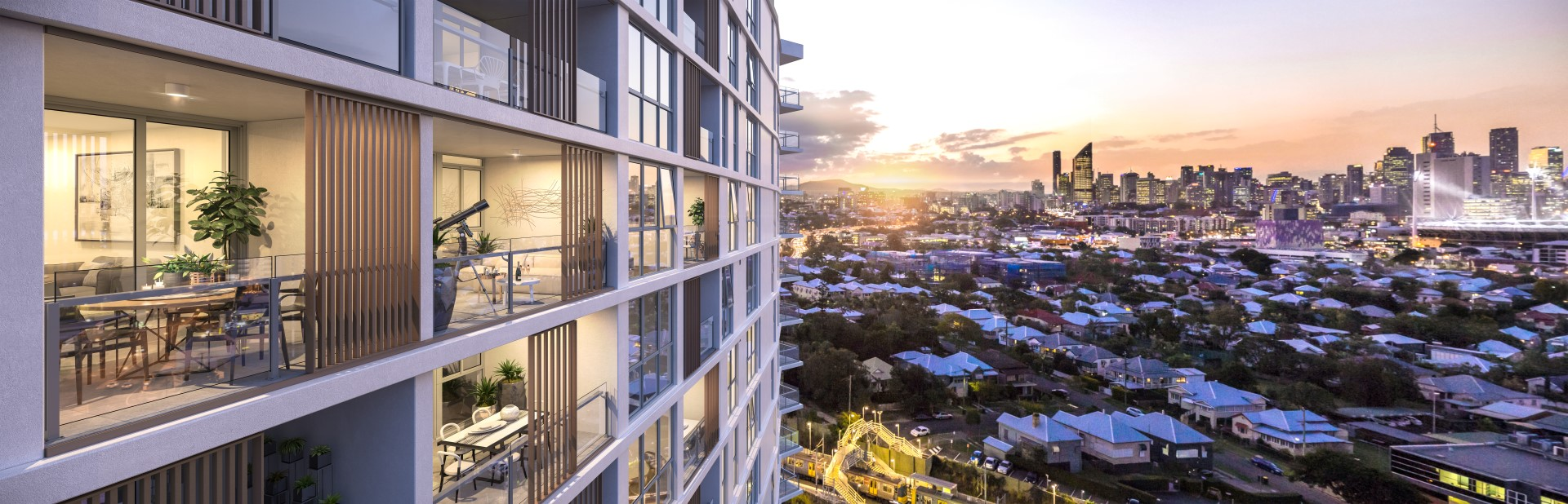 Park Central One apartment stunning exterior in Woolloongabba Queensland