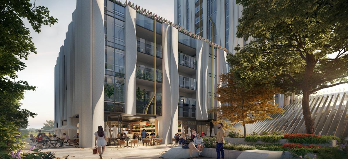 off the plan apartment for sale Park Square building exterior