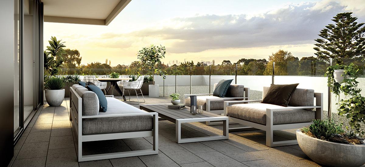Pavilion Green apartment terrace
