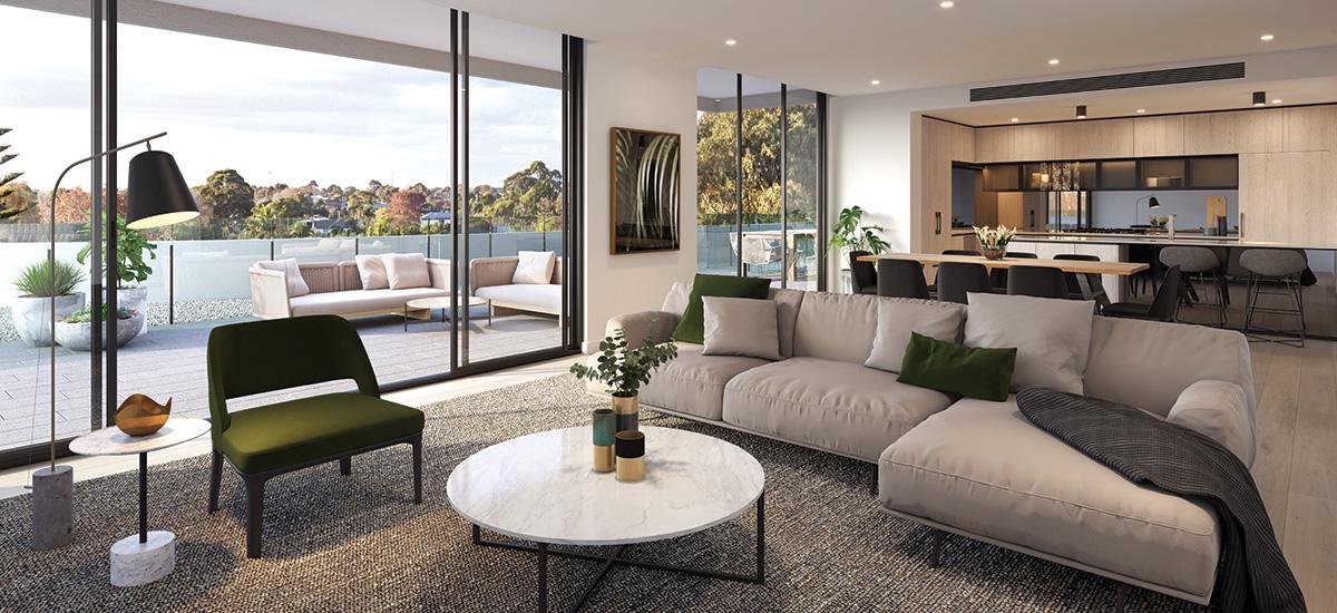 Pavilion Green apartment living room