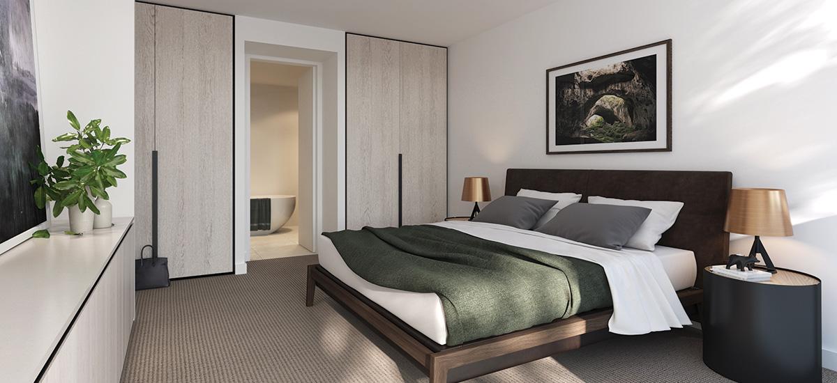 Pavilion Green apartment bedroom