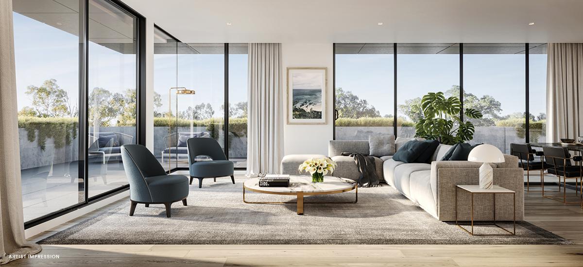 Piper apartment living room