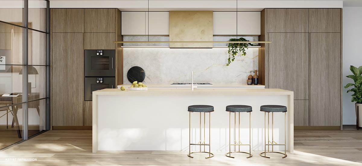 Piper apartment kitchen