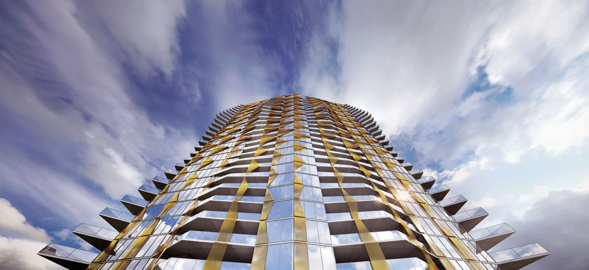 off the plan apartment for sale Realm Adelaide building exterior