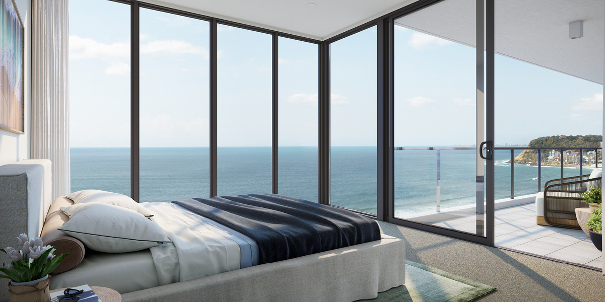off plan apartment for sale Sandbar Burleigh apartment bedroom in Burleigh Heads Queensland