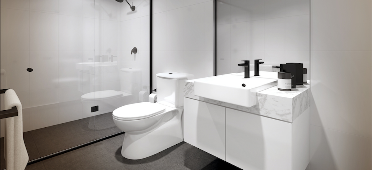 off the plan apartment for sale Seddon Living bathroom