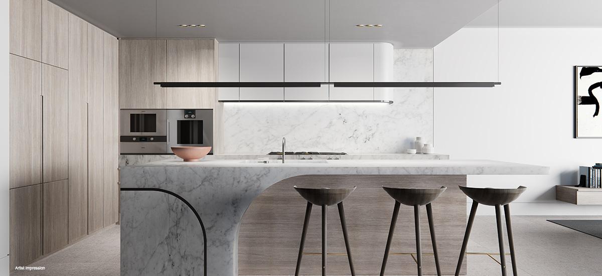 off the plan apartment for sale Shoreline kitchen