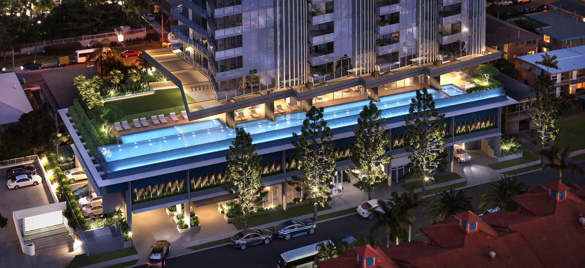 off plan apartment for sale Signature Broadbeach building exterior in Queensland