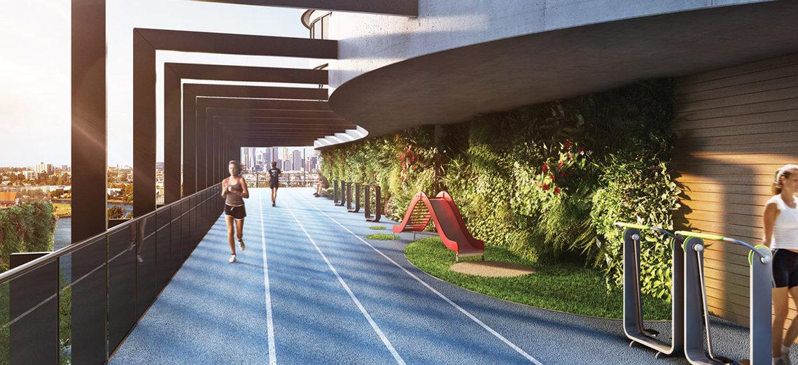 Running track at Victoria Square Apartments